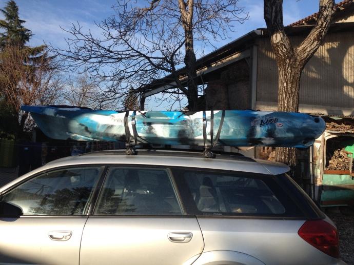 Kayak Feel Free Lure 10 appena ritirato da negozio e arrivato nella nuova dimora